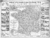 A map of France under the Third Republic, featuring colonies.