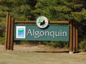 Deutsch: Algonquin Provincial Park: Hinweisschild