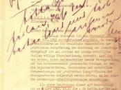 In a February 26, 1942, letter to German diplomat Martin Luther, Reinhard Heydrich follows up on the Wannsee Conference by asking Luther for administrative assistance in the implementation of the