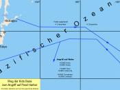 Deutsch: Weg der Kido Butai zum Angriff auf Pearl Harbor