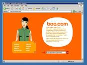 The Boo.com Homepage as it appeared in May 2000.