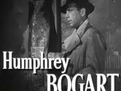 Cropped screenshot of Humphrey Bogart from the trailer for the film The Big Sleep