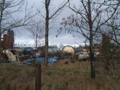 English: Atlas Rocket nose cone ? Redundant equipment at site of Loncliffe Calcium Carbonates