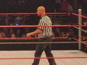 English: Cropped version of File:Cybersunday-mainevent.jpg to get a better view of Stone Cold Steve Austin as the Special Guest referee.