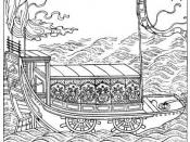Chinese ship with paddle-wheels, from an encyclopedia of 1726.