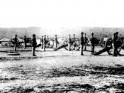 Artillery Battery at Fort Leavenworth, Kansas.