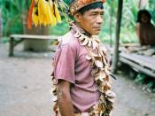 Urarina shaman in the Peruvian Amazon, 1988