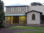 English: Darlington Hall, Western Australia. Main entrance taken from north.