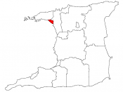 Location map of the City of Port of Spain, Trinidad and Tobago