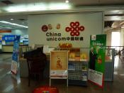 English: A China Unicom counter in a