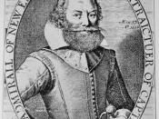 Captain John Smith, from his 1614 map of New England