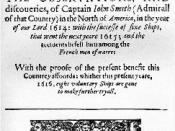 Titel page of A Description of New England of John Smith of Jamestown (published 1616).