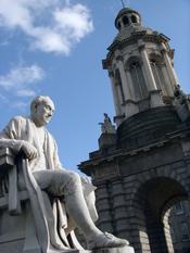 English: Sculpture of George Salmon at Trinity College, Dublin, Ireland