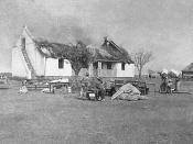 Scorched earth tactics by the British Army during the Second Anglo-Boer War. Nederlands: Verschroeide aarde door het Britse leger tijdens de Tweede Boerenoorlog