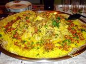Mansaf as served in an Jordanian household.