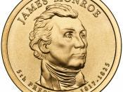 English: Presidential $1 Coin Program coin for James Monroe. Obverse.