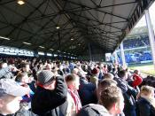 Cardiff City Away Fans on the Moy's End Terrace