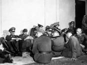 High ranking German officers seized by Free French troops which liberated their country's capital are lodged in the Hôtel Majestic, headquarters for the Wehrmacht in the days of the Nazi occupation, Paris, France. NARA FILE #: 111-SC-193010 WAR & CONFLICT