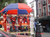 Image of stand with typical mexican culture items, Mexico city