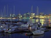 Downtown Halifax as seen from the Dartmouth waterfront.