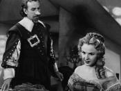 English: José Ferrer & Mala Powers in Cyrano de Bergerac - cropped screenshot