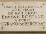 Français : Plaque commémorative, 2 rue Fortuny, Paris 17 e . « Dans cette maison où il vécut de 1891 à 1897, Edmond Rostand a écrit Cyrano de Bergerac. »