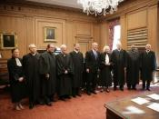 The Justices of the United States Supreme Court with President George W. Bush, October 2005