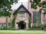 English: Front view of Stan Hywett Hall, Akron, Ohio