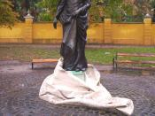 A statue of Liszt in Kalocsa, Hungary