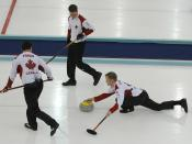 The Canadian team during the 2006 Winter Olympics in Torino.