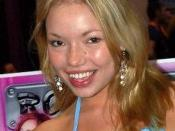 Russian-born American pornographic actress Maya Hills