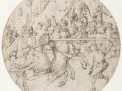 Tournament by Jörg Breu the Elder 1510s, depicting jousting