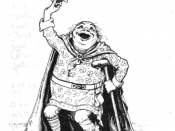 English: An illustration of the fairy tale King O'Toole and His Goose created by John D. Batten for Joseph Jacob's collection Celtic Fairy Tales.