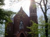 English: Memorial Chapel on the campus of Wesleyan University in Middletown CT