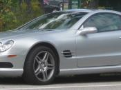 2003-2006 Mercedes-Benz SL500 photographed in College Park, Maryland, USA. Category:Mercedes-Benz R230 (pre-facelift)