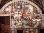 The Coronation of Charlemagne, by assistants of Raphael, circa 1516–1517