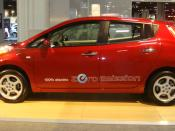 English: 2011 Nissan Leaf electric car at the 2011 Washington Auto Show