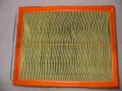 Used auto engine air filter, clean side