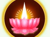 The golden light Lotus