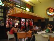 Coffee shop in El Salvador