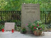 English: Grave of Heinrich von Kleist and Henriette Vogel in Berlin-Wannsee. Deutsch: Grab von Heinrich von Kleist und Henriette Vogel in Berlin-Wannsee. Inschriften: