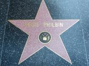 Regis Philbin's star on the Hollywood Walk of Fame in Hollywood, Los Angeles, California