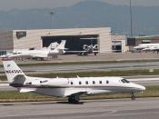 English: NetJets Cessna 560XL Citation XLS N643QS in San Francisco International Airport, USA (April 2011).