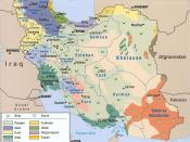 Map showing ethnic and religious diversity among the population of Iran.