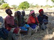 Zambian rural village. Women smallholders