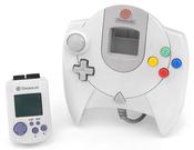 English: A standard North American Sega Dreamcast controller and VMU.