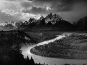 English: Ansel Adams The Tetons and the Snake River (1942) Grand Teton National Park, Wyoming. National Archives and Records Administration, Records of the National Park Service. (79-AAG-1) Français : Ansel Adams. Les Grands Tetons et la rivière Snake (19