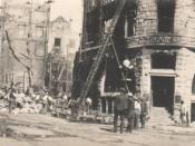 English: Real photo postcard of rubble of the Los Angeles Times Building after the 1910 bombing Los Angeles Times bombing