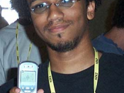 Aaron McGruder, at the 2002 Hackers On Planet Earth hacker con.