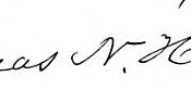 Thomas N. Hart's signature
